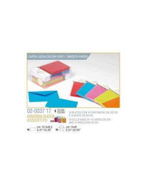 Blister 10 - 10 biglietto busta armonia cm.9x14 - 5 colori forti KARTOS 2003717 8009162305482 2003717