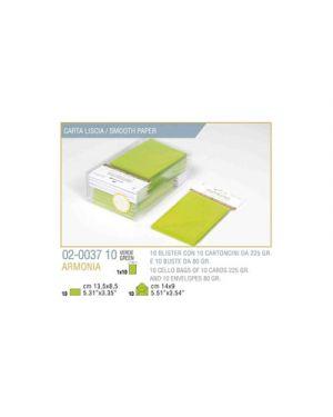 Blister 10 - 10 biglietto busta armonia cm.9x14 verde mela KARTOS 2003710 8009162304843 2003710