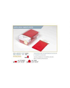 Blister 10 - 10 biglietto busta armonia cm.9x14 rosso KARTOS 2003707 8009162304782 2003707