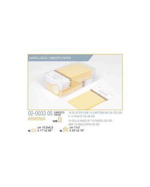 Blister 10 - 10 biglietto busta armonia cm.7x11 camoscio KARTOS 2003305 8009162304508 2003305
