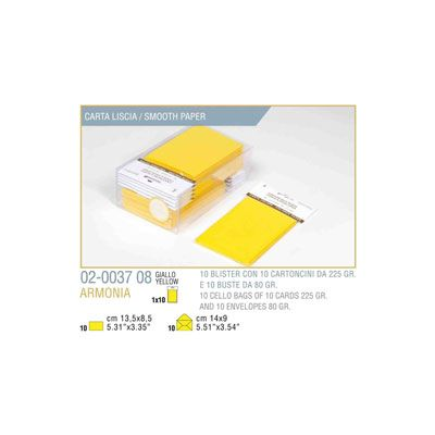 Blister 10 - 10 biglietto busta armonia cm.9x14 giallo KARTOS 2003708 8009162304799 2003708 by Kartos