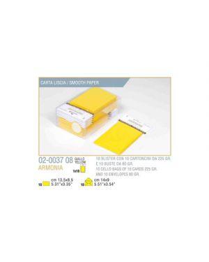 Blister 10 - 10 biglietto busta armonia cm.9x14 giallo KARTOS 2003708 8009162304799 2003708