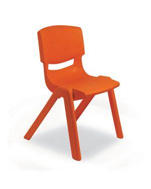 Sedia per scuole materne in ppl seduta cm.30 col rosso CWR 7832 8004957078329 7832