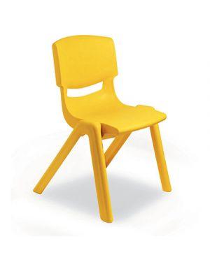 Sedia per scuole materne in ppl seduta cm.30 col giallo CWR 7833 8004957078336 7833