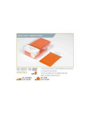 Blister 10 - 10 biglietto busta armonia cm.9x14 arancio KARTOS 2003706 8009162304775 2003706