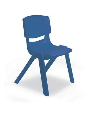 Sedia per scuole materne in ppl seduta cm.30 col blu CWR 7835 8004957078350 7835