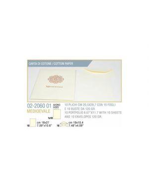 Plico 10 - 10 fogli busta medioevale cm.20,5x29,7 avorio KARTOS 2206001 2000001902547 2206001