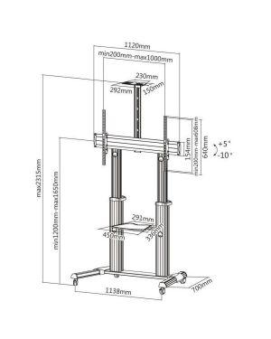 Tv stand 100vc shelf Sopar 23211 4005039232114 23211