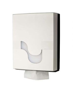 Dispenser per asciugamano piegato col.bianco  l 275x p 125x h 360 mm CELTEX 92120 8022650921209 92120