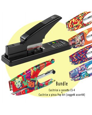Bundle cucitrice a cassetta cs-4 + cucitrice a pinza pop art X011 8025133102263 X011