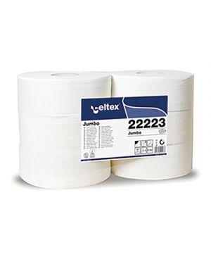 Rotolo carta igienica pura cellul. jumbo 320 mt 2 veli cf. 6 rotoli CELTEX 22223 8022650222238 22223