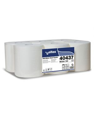 Rotolo asciugamani pura cellul. 3 veli autocut s - strappo mt.100 pz.6 CELTEX 40437 8022650404375 40437