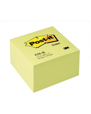 Blocco cubo 450fg post-it®giallo canary™ 76x76mm 636-b 7100172238 3134375231626 7100172238