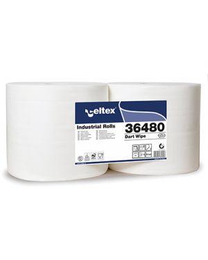 Rotolo carta pura cellulosa dart wipe 800 strappi 2 veli pz.2 CELTEX 36480 8022650364808 36480 by No