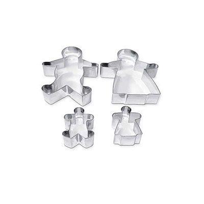 Stampini acciaio famiglia pz.4 CWR 7445 8004957074451 7445 by Cwr