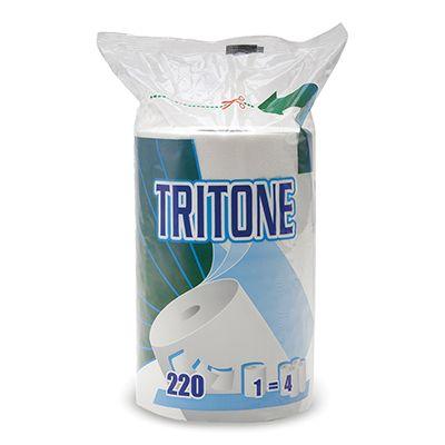 Rotolo asciugatutto pura cellul. tritone in busta 220 strappi - 3 veli CELTEX 8650 8022650086502