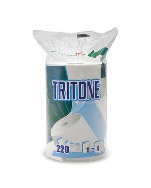 Rotolo asciugatutto pura cellul. tritone in busta 220 strappi - 3 veli CELTEX 8650 8022650086502 8650