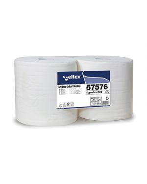 Rotolo industriale superlux 3 veli strappi 500 pz.2 CELTEX 57576 8022650575761 57576 by No
