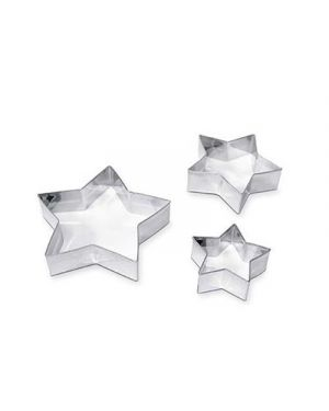 Stampini acciaio stelle pz.3 CWR 7442 8004957074420 7442