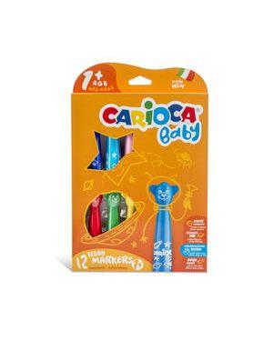 Pennarelli teddy 2+ 12 colori baby carioca CARIOCA 42816 8003511428167 42816