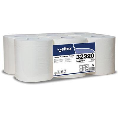 Rotolo asciugamani superpull maxi a 2 veli mt.160 pz.6 CELTEX 32320 8022650323201 32320 by No