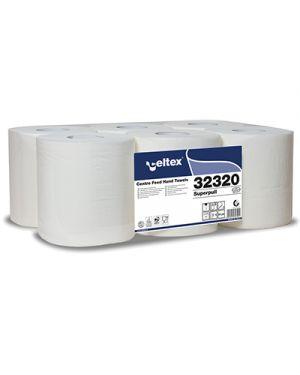 Rotolo asciugamani superpull maxi a 2 veli mt.160 pz.6 CELTEX 32320 8022650323201 32320