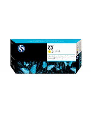 Testina di stampa e dispositivo di pulizia per testina di stampa hp n.80 giallo C4823A 88698541654 C4823A_943H928