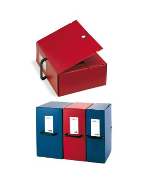 Scatola archivio big 120 250x350mm rosso c - maniglia sei rota 68001212 8004972012049 68001212