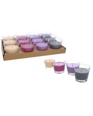 Candela in bicchiere vetro d.9xh.8 cm gr.150 profumi ass MERCURY 37775 8034052137775 37775