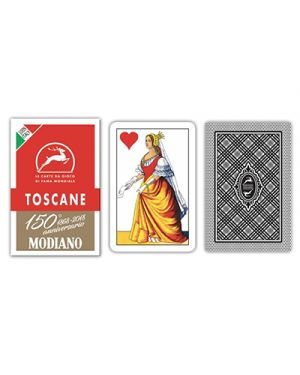 Carte toscane rosso 150 modiano pz.40 MODIANO 300119 8003080001198 300119 by No