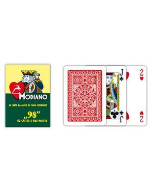 Carte poker 98 rosso modiano pz.54 MODIANO 300252 8003080002522 300252 by No