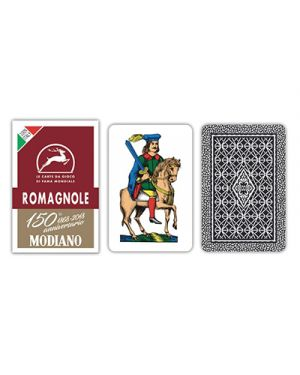 Carte romagnole bordeaux 150 pz.40 MODIANO cod. 300079 8003080000795 300079