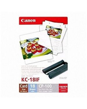 Etichette adesive kc-18if carta+ink Canon 7741A001 4960999047072 7741A001