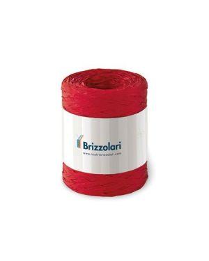 Rafia sintetica 6802 100mt rosso Brizzolari 010621-07 8031653221612 010621-07