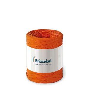 Rafia sintetica 6802 100mt arancio Brizzolari 010621-12 8031653221636 010621-12