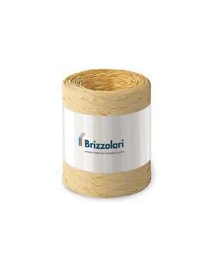 Rafia sintetica 6802 100mt naturale Brizzolari 010621-40 8031653258014 010621-40