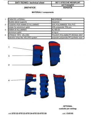 Neosplint steccobende neoprene braccio STE123 STE123