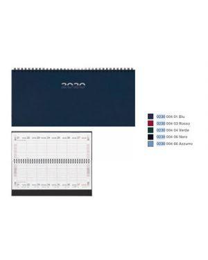 Agenda 29,8x10,5 sett.spir. gommato azzurro BALDO 23000466 8032793650232 23000466