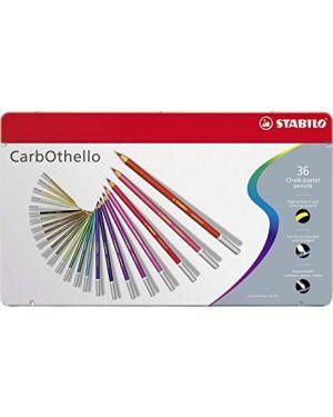 Astuccio metallo 36 carbothello colori assortiti stabilo 1436-6 4006381279635 1436-6-1