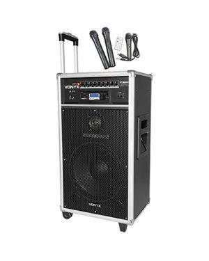 Sistema portatile con 2 radiomicrofoni uhf, lettore cd mp3 e bt MELCHIONI 550923423 8715693289756 550923423