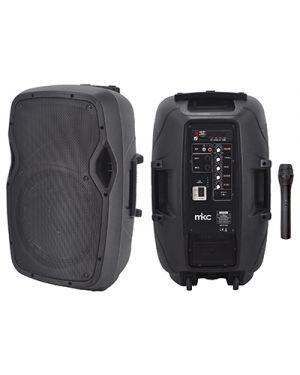 Sistema portatile 30w rms fm - bt - mp3 player - eq. e radiomicrofono vhf MELCHIONI 550922015 8006012342123 550922015