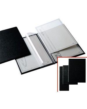 Porta menu l in pvc 11x31cm 2+2 tasche nero 56710210 8004972007946 56710210