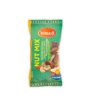 Nut mix nocciole, anacardi, mandorle, arachidi, noci brasili pocket 60g - bimed 3830022222817 3830022222817 3830022222817