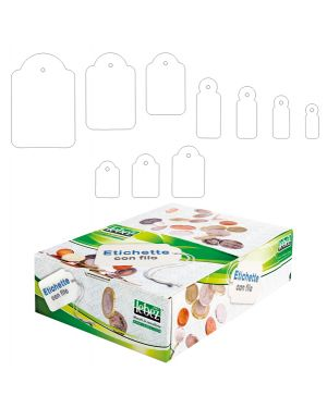 Scatola 1000 etichette con filo a388 (15x25mm A388 8007509003886 A388_26670 by Lebez