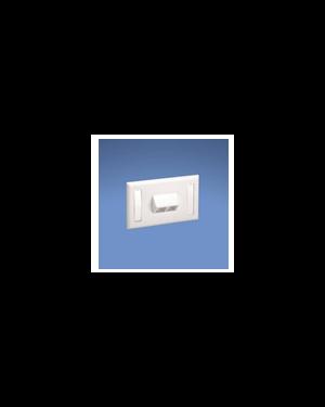 Placca per 4 prese netkey bianca Panduit NK4HSFIWY 74983054848 NK4HSFIWY