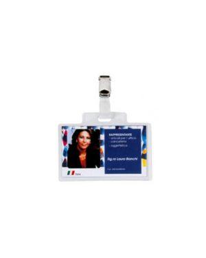100 portanome pass 3e 9,5x6cm c - clip in metallo sei rota 318005 8004972001241 318005
