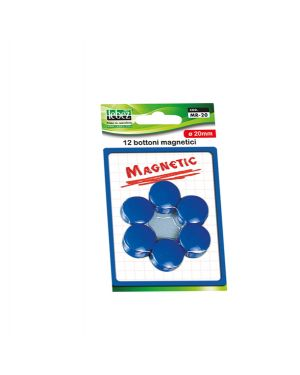 Blister 12 magneti mr-20 nero diam.20mm MR-20-N 8007509002315 MR-20-N by Lebez