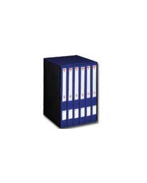 Gruppo registratori mec 3 quintetto c/cartellette blu 23x32cm, dorso 23 cm 00017804_29438