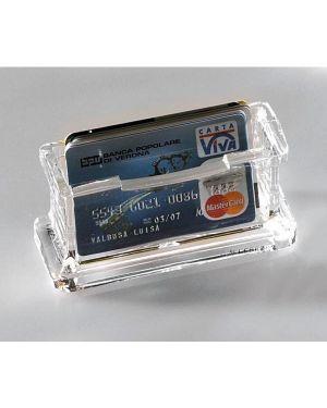 Portabiglietti acrilico per scrivania LEBEZ 1680 8007509016800 1680