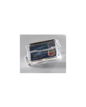 Portabiglietti da visita da tavolo acrilico trasparente 1680 lebez 1680 8007509016800 1680